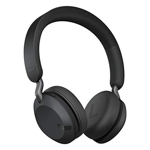 Jabra Elite 45h Kabellose On-Ear Kopfhörer – 50 Stunden Akkulaufzeit, faltbares, kompaktes Design – Duale Mikrofon-Anruftechnologie, titan schwarz