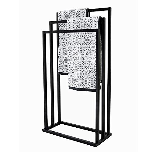 House & Homestyle Towel Holder Handtuchhalter, Schwarz, Width: 45 cm Depth: 21 cm Height: 84 cm
