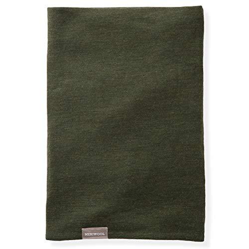 MERIWOOL Neck Warmer Gaiter for Women n Men 100% Merino Wool Ski Wool Neck Gaiter (Army Green)