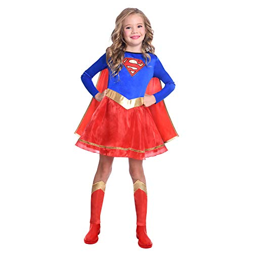 Disfraz de Warner Bros Supergirl clásico para niñas y niños (Edad: 4-6 años)