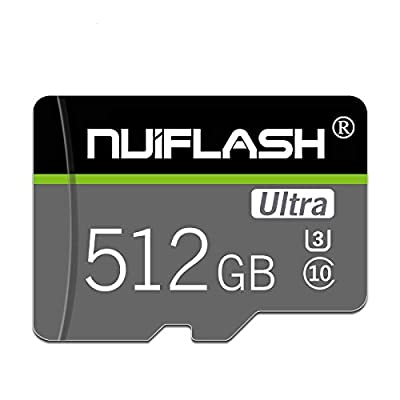 512GB Micro SD Card Class 10 Flash Memory Card High Speed Professional Card with Free Adapter,Designed for Nintendo-Switch Android Smartphones,Tablets and Others