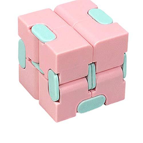 FILWO Infinity Cube Fidget Toy, Fidget Cube Fidget Magic Unendlicher Flip Würfel Dekompression Spielzeug, Tötungs Zeit Zappeln Spielwaren Stressabbau Würfel für Erwachsene und Kinder