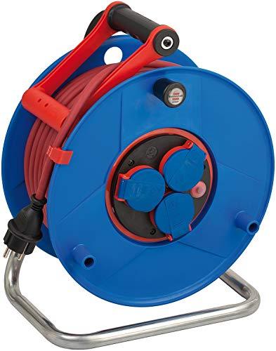 Brennenstuhl Garant Bretec IP44 Gewerbe-/Baustellen-Kabeltrommel 40m (aus Spezialkunststoff, für Baustelleneinsatz und ständiger Einsatz im Außenbereich, Made in Germany) blau