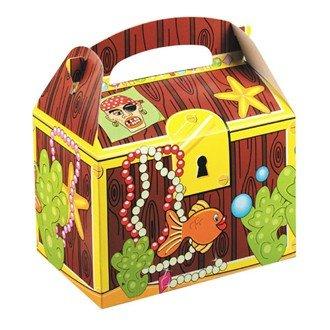 8 pour enfant avec coffre au trésor Pirate boîtes repas fête d'anniversaire Sac de pique-nique