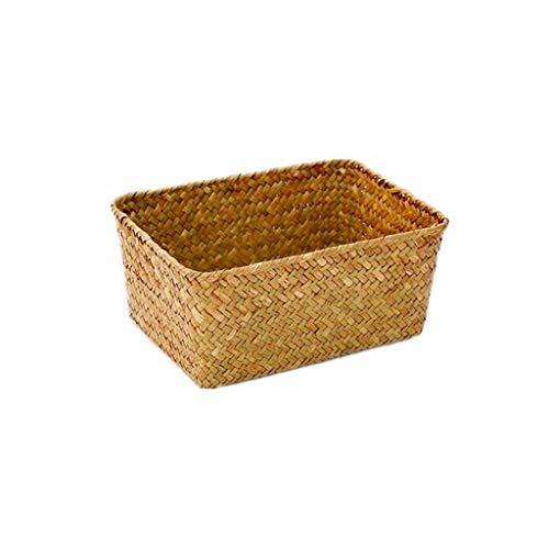 Auart YiLei-LL panière Pain, La Main Paille Corbeille à Pain, Pain Fruit Basket Weaving Alimentaire, Salle de Bains Bureau Cuisine...