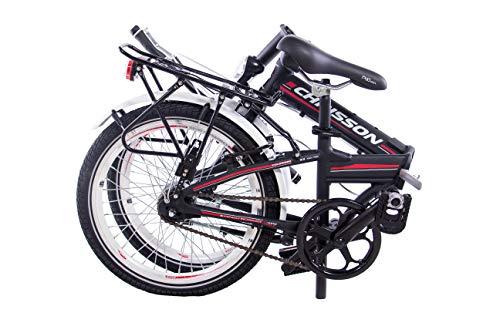 CHRISSON 20 Zoll Faltrad Klapprad - Foldrider 3.0 schwarz - Faltfahrrad für Herren und Damen - 20 Zoll klappbares Fahrrad mit 7 Gang Shimano Nexus Nabenschaltung - Folding City Bike - 7