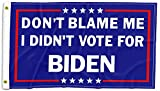 SHELLBOBO Don't Blame Me I Didn't Vote for Biden 3x5 FT Flag Double Stitched Polyester Flag with 2 Gronments