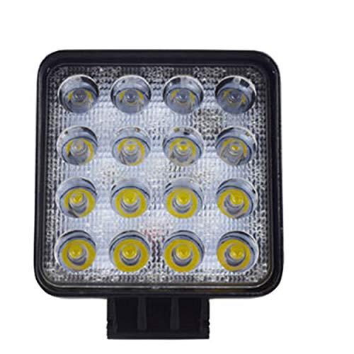 Lodenlli 48W LED DRL Luz de Trabajo Luz Cuadrada a Prueba de Agua Super Brillante Proyector para Todoterreno Camión Motocicleta