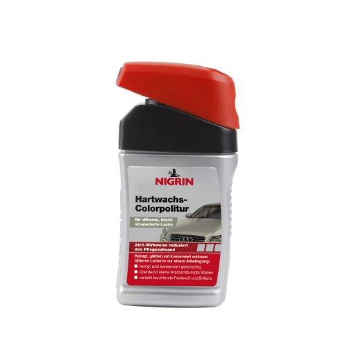 NIGRIN 72947 Hartwachs-Colorpolitur Silber 300 ml