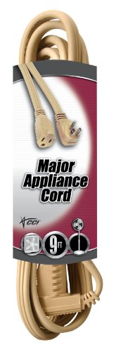 Coleman Cable 3533 14/3 General-Use Appliance Extension Cord, 9-Foot