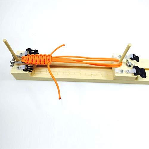 Regenschirmseil Multifunktionales Außenseil DIY Holz Paracord Jigs Armband Maker Armband Maker Jig Armband Strickwerkzeug Armband Strickwerkzeug Multifunktions-Campinggeräte-Regenschirm-Kordellinie