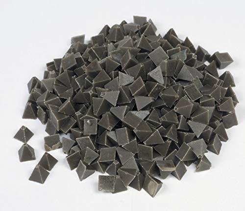 Raytech 41-141 Medium Cut Pyramids Plastic Media, 55 lbs/cu ft Density, 1/4' Size, Brown, 5lbs Weight