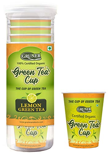 GRUNER ORGANIC Green Tea | Detox Tea For Weight Loss And Belly Fat | 100% Natural Energy Booster| 210ml (Lemon)