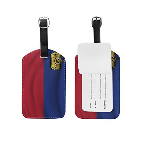 Liechtenstein Fahne Gepäckanhänger Reiseanhänger Kofferanhänger Gepäckanhänger Gepäckanhänger