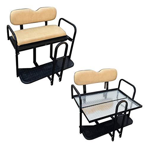 Rear Flip Seat for EZ-GO TXT/PDS/Medalist Golf Cart Models - Tan