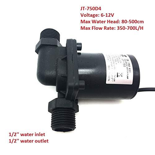 SHIJING Micro Submersible Water Pomp DC 12V 24V geluidsarme Solar Brushless Pomp Max 7M 900L / H,4