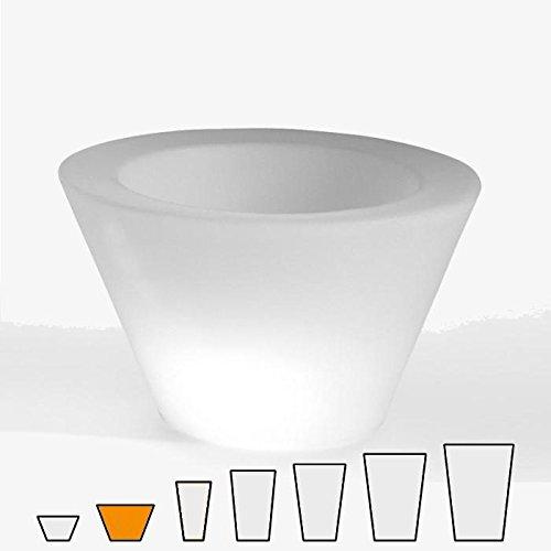 Slide design - Pot de fleurs rond lumineux X-Pot Light ø 80 - H : 50 cm
