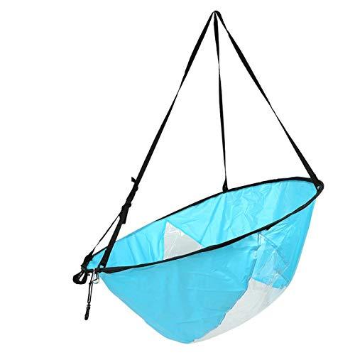 VGEBY Kayak Sail 108cm Kayak Plegable Wind Paddle Board Sail con Ventana Transparente y Bolsa de Almacenamiento(Azul)