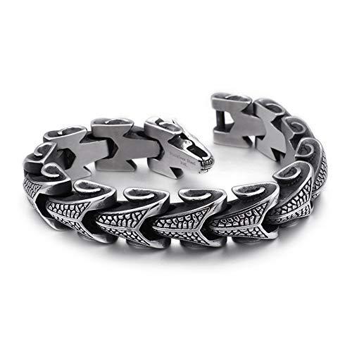 Diamond Titanium Steel Armband Men es Keel Alternative Personality Jewelry Trend Armband Edelstahl Schmuck,M