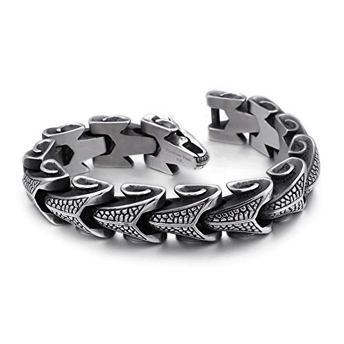 Diamond Titanium Steel Armband Men es Keel Alternative Personality Jewelry Trend Armband Edelstahl Schmuck,S