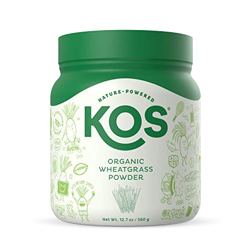 KOS Organic Wheatgrass Juice Powder | Chlorophyll Rich Premium Wheatgrass Juice Powder | USDA Organic, Cold-Pressed & Air Dried, Fiber Rich Plant Based Ingredient, 360.4g, 132 Servings