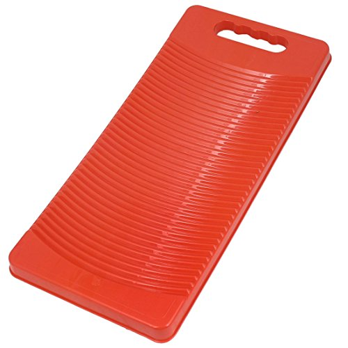 Plastic Rectangle Washboard Washing Clothes Board 50cm Long Red