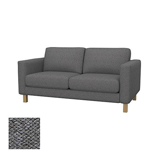 Soferia Bezug fur IKEA KARLSTAD 2er-Sofa, Stoff Nordic Grey