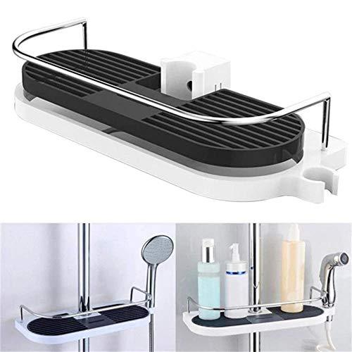 zyh1229 Praktische badkamer kolom douche opslag rack staande rack badkamer rack enkele laag douchebak badkamer rack