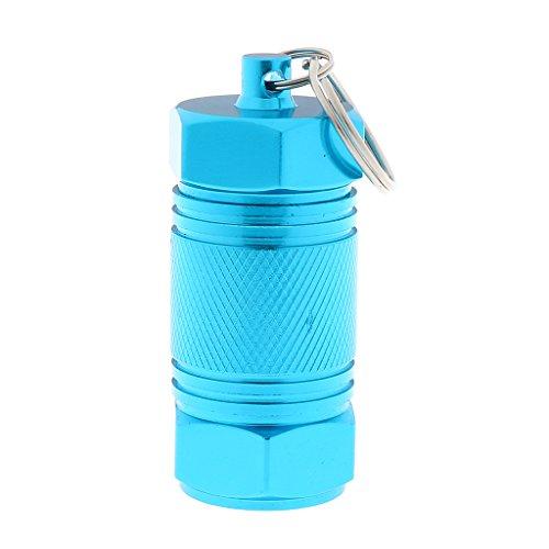 joyMerit Aleación de Aluminio Impermeable Caja de Almacenamiento de Píldoras Caja Contenedor de Medicamentos Soporte de Cartucho de Primeros Auxilios Llav - Azul