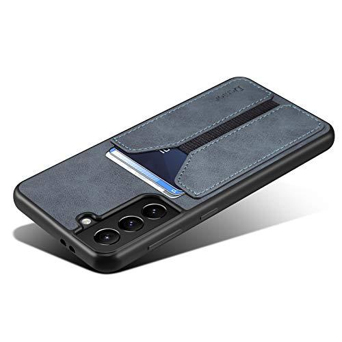 Kowauri Schutzhülle für Galaxy S21, SM-S21, PU-Leder, Brieftaschenformat, mit Kreditkartenfächern, ultradünn, Schutzhülle für Samsung Galaxy S21 5G, 15,7 cm (6,2 Zoll), Grau