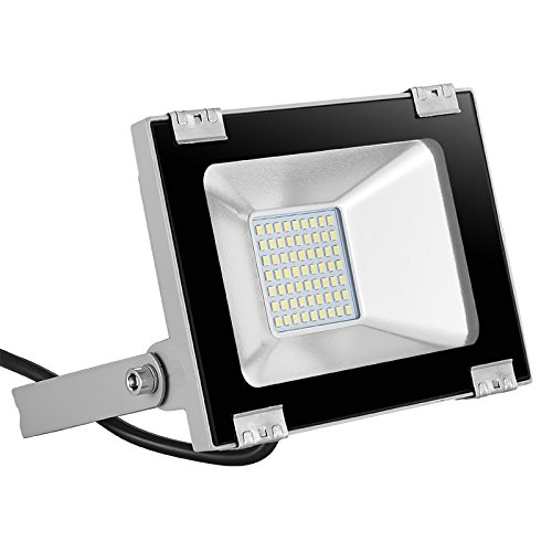 20W/30W/50W/100W/150W Floodlight Led Foco Proyector Led para Exterior Iluminación Decoración delgado cubierta exterior IP65 impermeable LED reflector (30WBlanco frío)