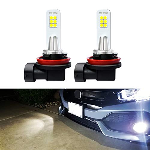 Hxfang 2 unids 2000lm 80W H8 H11 LED luces de niebla H7 HB3 HB4 9005 9006 LED Lámpara de bombilla Lámpara Ajuste para Audi Ajuste para Toyo / TA Ajuste para Hyundai Ajuste para KIA Ajuste para Lexus