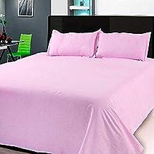 HomeStore-YEP Cotton 220 TC Bedsheet (Queen_Pink)