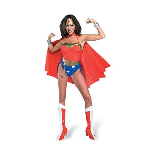 Wonder Woman Body Kostüm, 7-teiliges Superheldinnen Kostüm, geschnitten - S