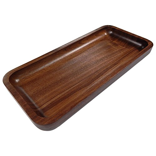 Irving Solid Walnut Wood Rectangular Display Platter and Tray Small