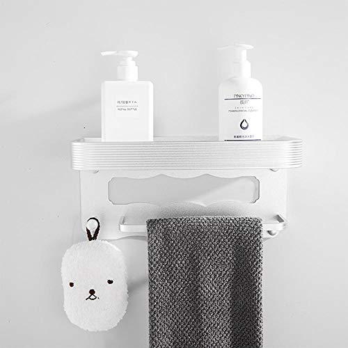 Toilet Dubbele Badkamer plank, Toilet Opslagrack, Keuken Rack, Badkamer Spiegel Voorste plank Silver 30cm