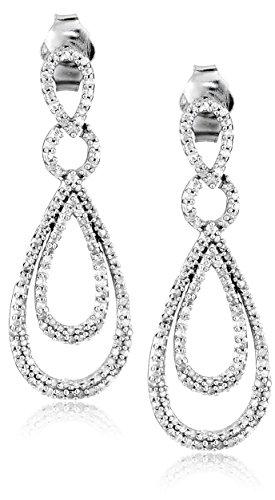 Sterling Silver Diamond Drop Earrings (1/2 cttw)