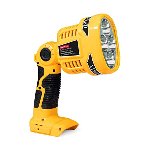 FLAGPOWER LED Work Light Compatible with Dewalt 14.4V 20V MAX Lithium Battery, 1120LM Jobsite Spotlight Flashlight with USB Port and Pivoting Head for Outdoor Indoor
