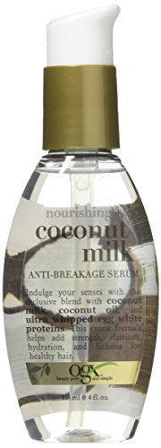 Ogx Coconut Milk Serum Anti-Breakage 4 Ounce (118ml) (3 Pack)