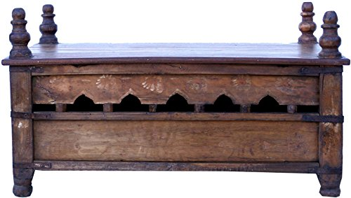Guru-Shop Antieke Bijzettafel, Salontafel - Model 3, Bruin, 41x53x75 cm, Salontafels Vloertafels