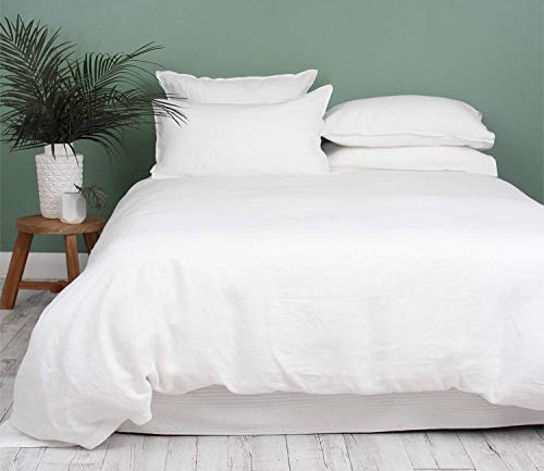 Premium Super King Duvet Cover Sets 600-Thread-Count Soft Egyptian Cotton Quilt Cover (260 cm x 220 cm) with 4 Oxford Pillowcases (50 cm x 90 cm), Luxurious European Bedding (White)