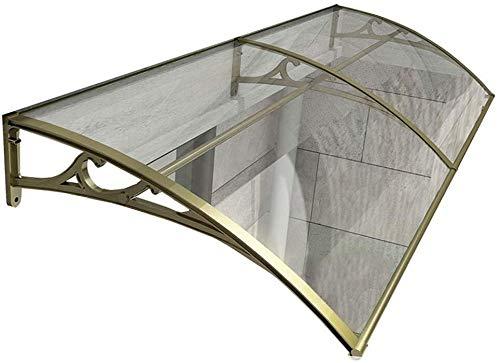 Marquesina Puerta Exterior Toldo Impermeables Exterior Marquesina Sol para Terrazas Canopy Policarbonato Tejadillo De Protección (Color : Clear-A, Size : 60cmx120cm)