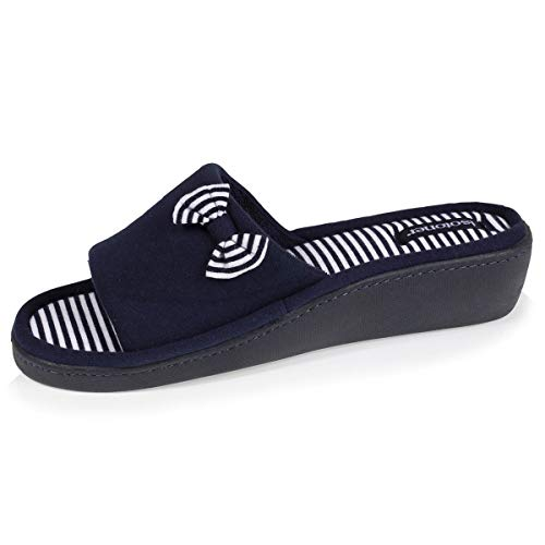 ISOTONER,93723 Zapatillas DE Estar por CASA Mujer (Azul, Numeric_40)