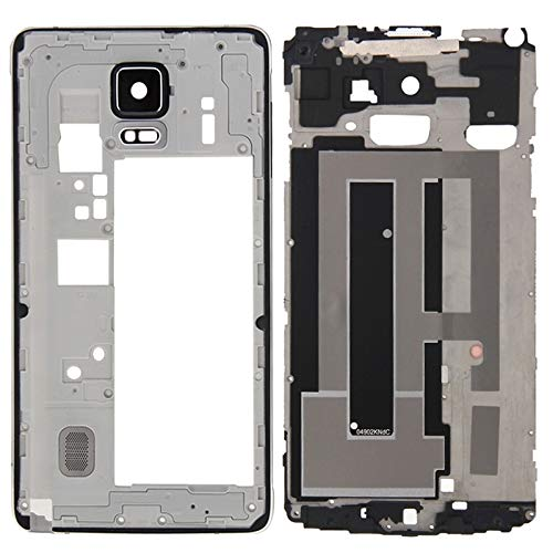 High-end Best Replacement Parts Total Housing Cover(Front Housing LCD Frame Bezel Plate + Middle Frame Bazel Gage Plate Housing Camera Lens Panel) compatible with Samsung Galaxy Note 4 / N910F