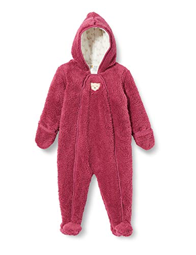 Steiff Baby-Mädchen mit süßer Teddybärapplikation Einteiler, Malaga, 086