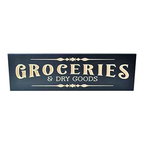 Groceries Engraved Wood Wall Sign