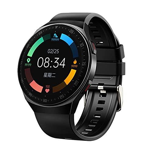 Walker Valentin Pulsera en Forma Smart Watch Men Bluetooth Llamada Pantalla táctil Completa 8g Espacio de Memoria Nuevo Smartwatch para Android iOS Sports Fitness Tracker Black