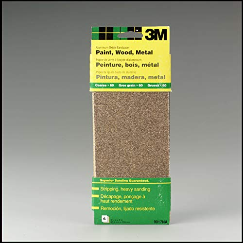 3M 9017 General Purpose Sandpaper Sheets, 3-2/3-in by 9-in, Coarse Grit