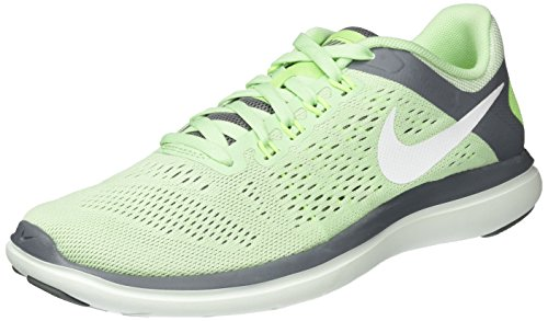Nike Women's WMNS Flex 2016 Rn Competition Running Shoes, Multicolour (Verde/Blanco/Fresh Mint/White/Cool Grey/Barely Green), 4.5 UK