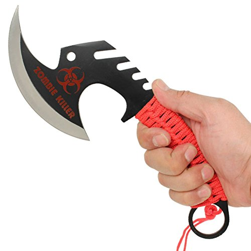 Armory Replicas Zombie Killer Skullsplitter Throwing Axe - Red